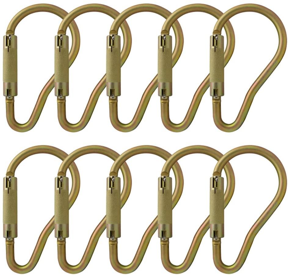 Fusion Climb Prima II Auto Lock Ladder Hook High Strength Carabiner 10-Pack