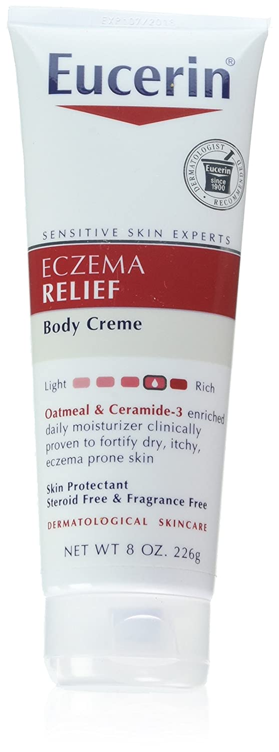 Eucerin Creme Eczema Relief 8 Ounce Tube (236ml) (3 Pack)