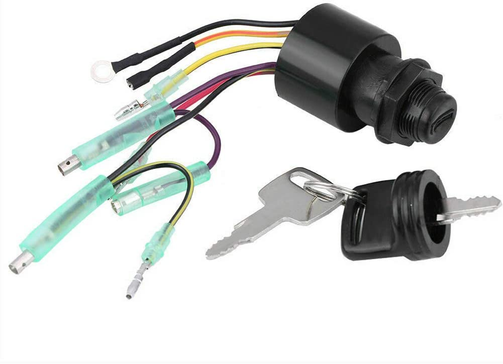 SKYHY224 Ignition Switch Accessories 87 17009 Remote Controller Box Assembly 6 Pins Spare Parts Replacement Outboard with Key Boat for Mercury