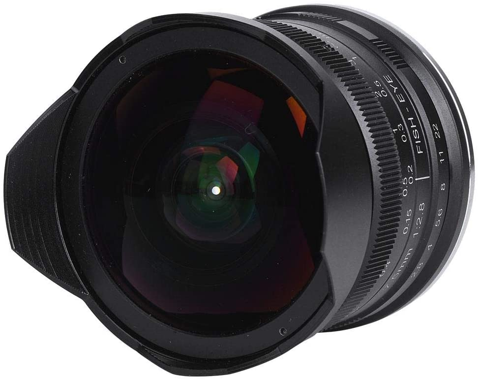 Serounder 7.5mm F2.8 180 Degree Fisheye Super Wide Angle Micro Focus Lens for Sony NEX Mount Camera