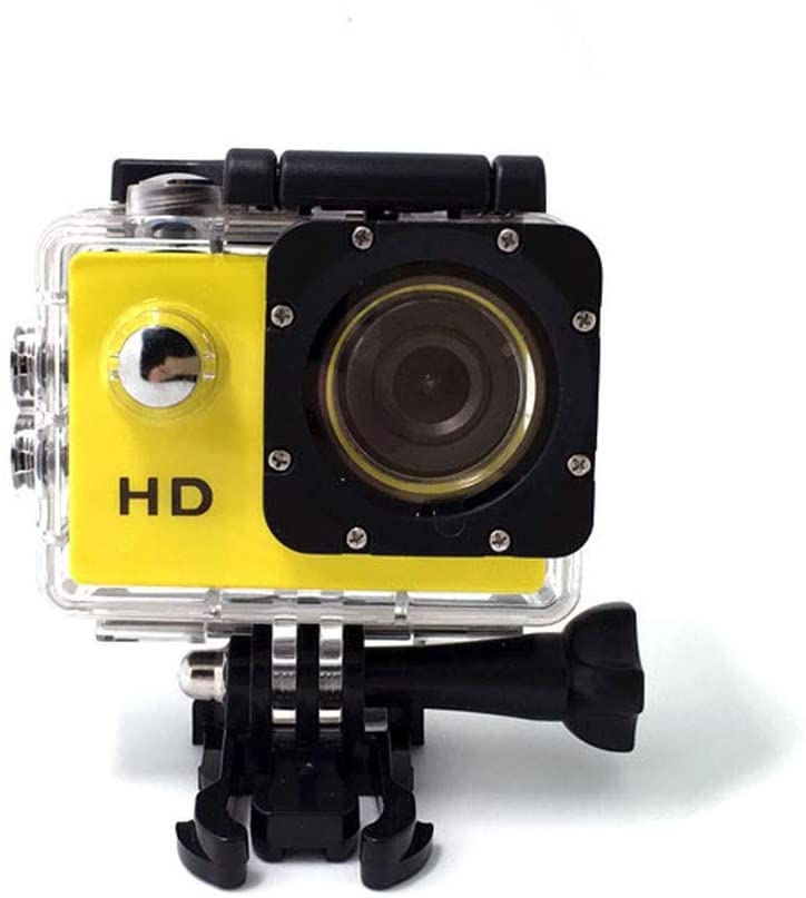 Sports Camera for Outdoor Sports Travel with A 170° Wide Angle Shot of 12 Million HD Lenses Worth Having (Color : Yellow)