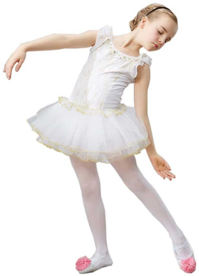George Jimmy Ballet Skirt Tutu Dance Accessories Ballet Supply Dance Costumes Gymnastics Dress, White