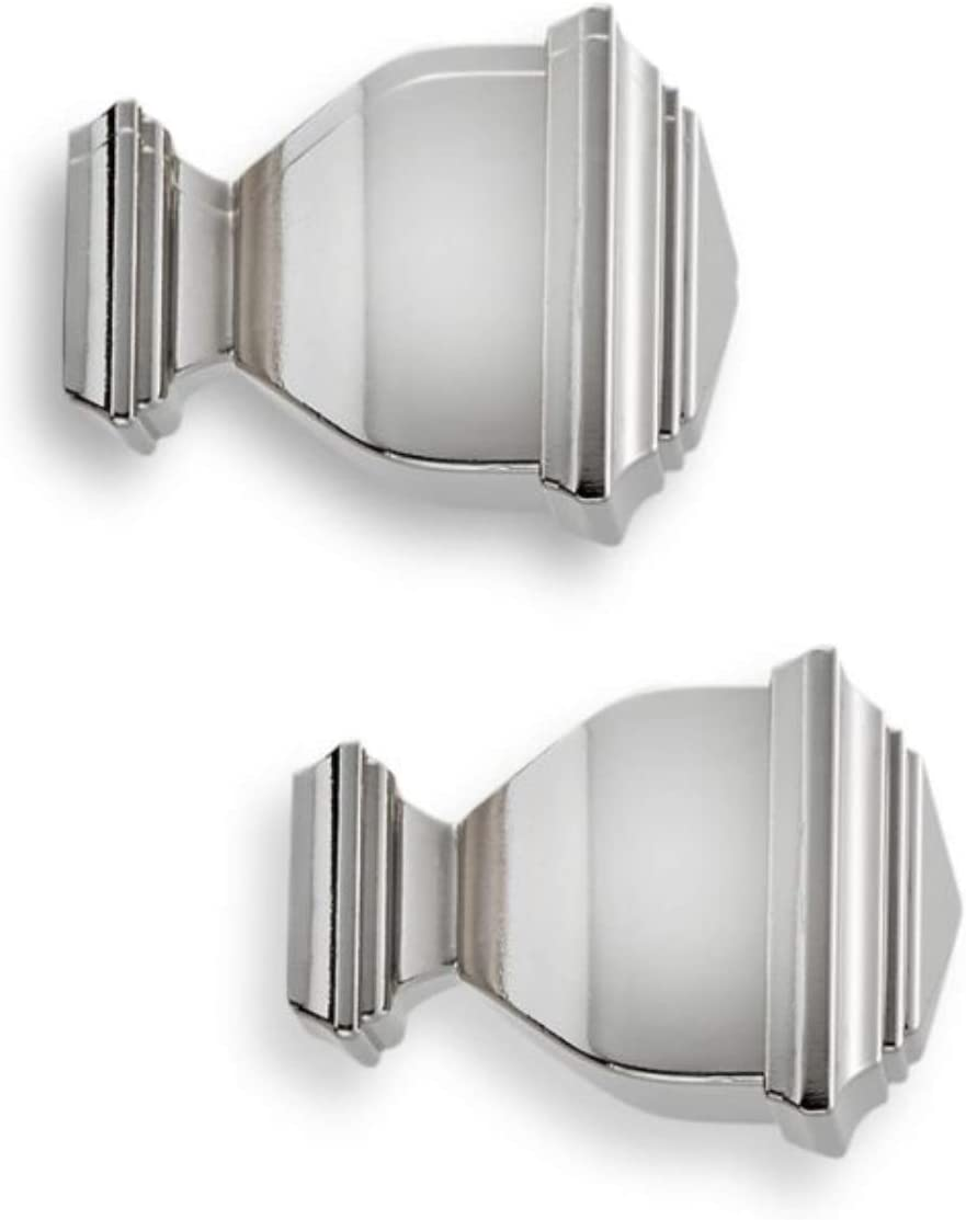 Cambria Premier Complete Napoleon Finials in Polished Nickel (Set of 2)