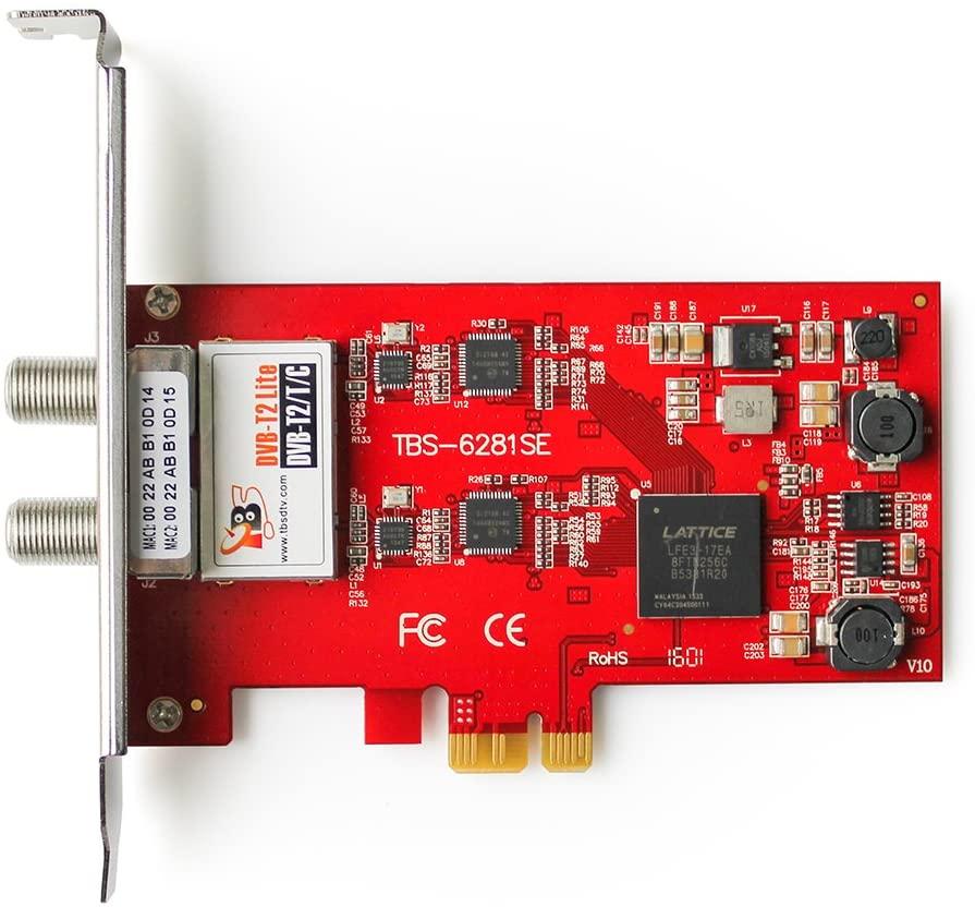 TBS 6281SE DVB-T2/T/C TV Dual Terrestrial HD Low-Profile PCIe TV Tuner Card