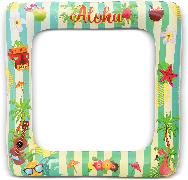Inflatable Aloha Photo Frame for Hawaiian, Luau Party (2 Pack)
