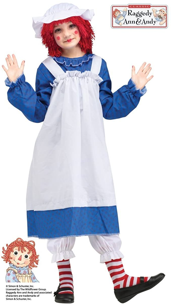 Raggedy Ann Girls Halloween Costume