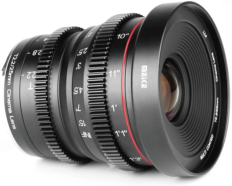 Meike 25mm T2.2 Manual Focus Mini Cinema Lens for Sony E-Mount APS-C Cameras