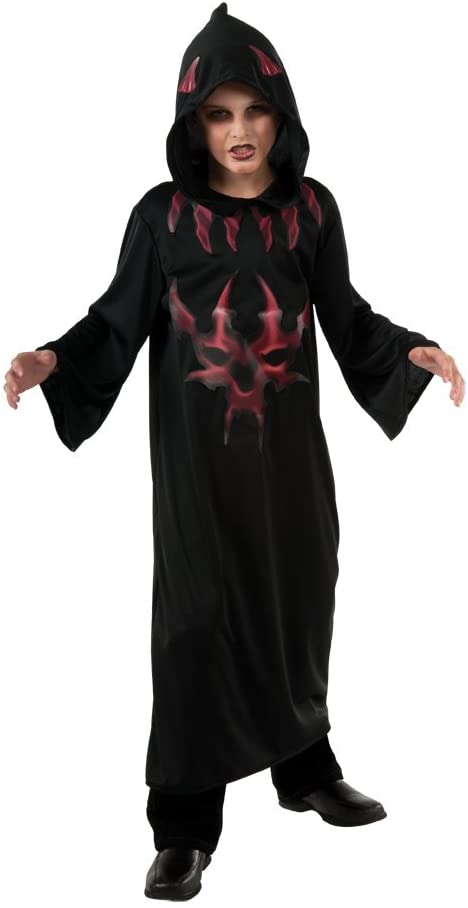 Halloween Concepts Child's Black and Red Devil Robe, Large