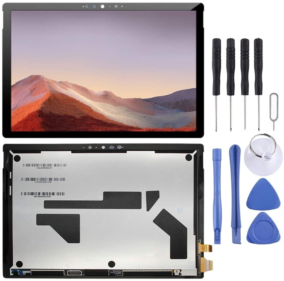 ZHANGTAI Sparts Parts LCD Screen and Digitizer Full Assembly for Microsoft Surface Pro 7 1866 Repair Flex Cable (Color : Black)