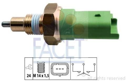 FACET REVERSING LIGHT SWITCH 7.6245 Compatible with MERCEDES-BENZ #OEM A0005455300/ A4155450006, NISSAN 32005AX000/ 3200500QAE/ 3200500QAEKT, RENAULT 8200177718/8200008194, SMART A0005455300