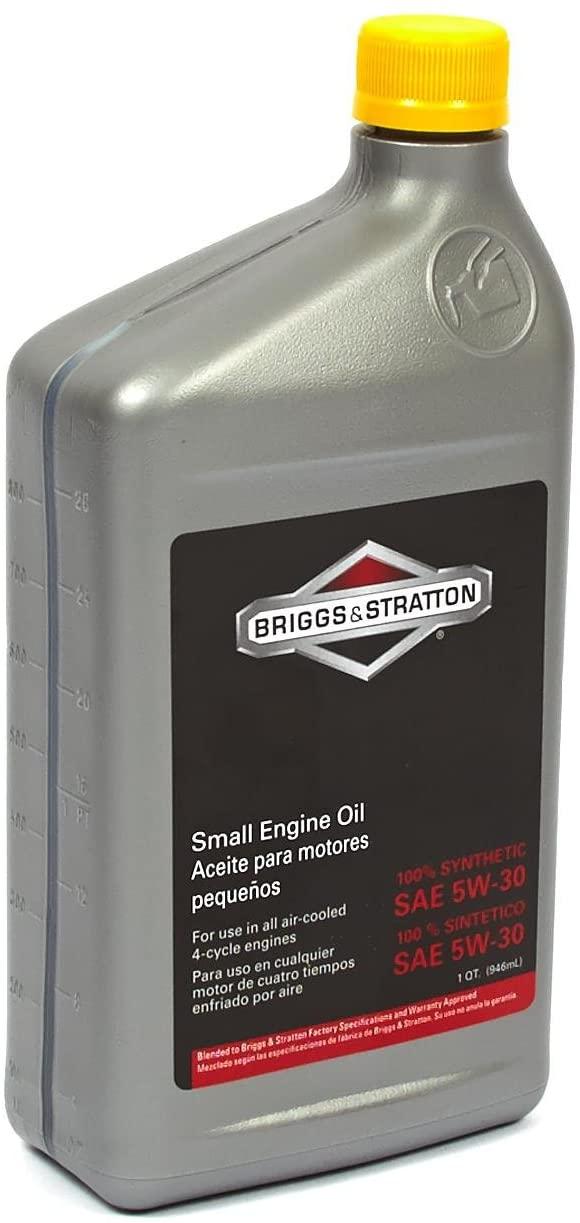 Briggs & Stratton SAE 5W-30 Synthetic Small Engine Motor Oil - 32 Oz. 100074