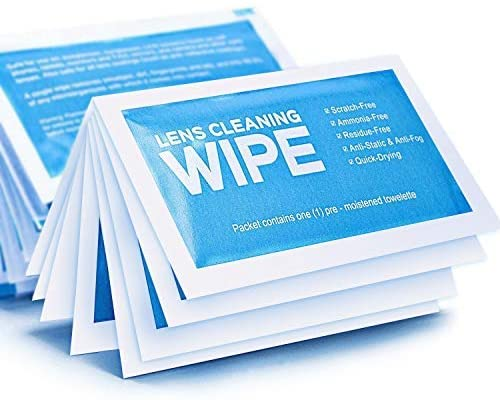 Lens Cleaning Wipes, Pre-moistened Electronics Wipes - Touchscreens Surface Cleaning for Couputers, Smartphones, Tablets, TVs, Monitors, LCD Screens - Streak-Free, Quick Drying (120 Pack)