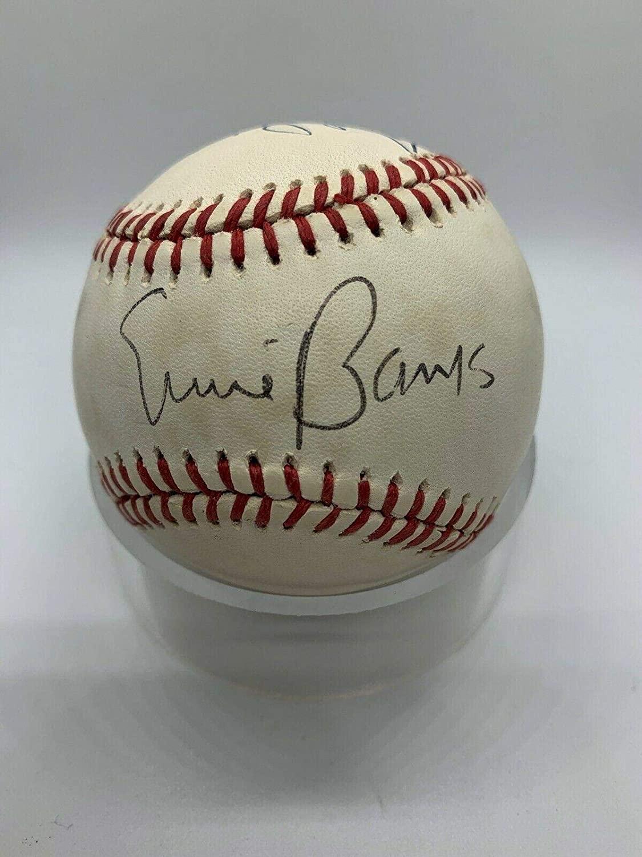 Ernie Banks Willie Mays Duke Snider Signed Autograph OMLB Baseball - PSA/DNA Certified - Autographed Baseballs