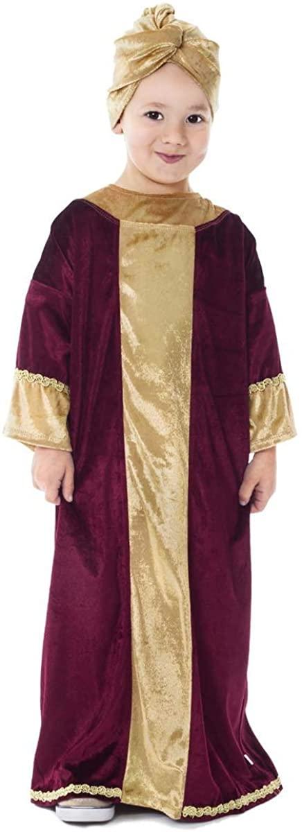 Little Adventures Nativity Biblical Characters Childrens Costume (Burgundy Wiseman)