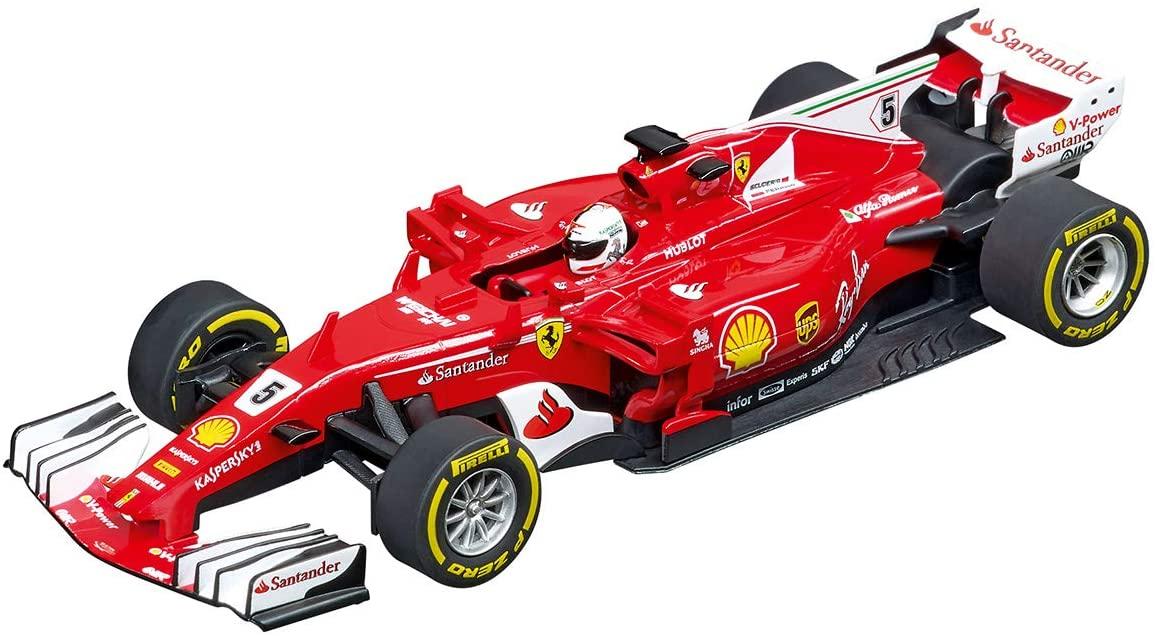 Carrera 20027575 Ferrari SF70H S. Vettel No. 5 1:32 Scale Analog Evolution Slot Car Racing Vehicle, Red