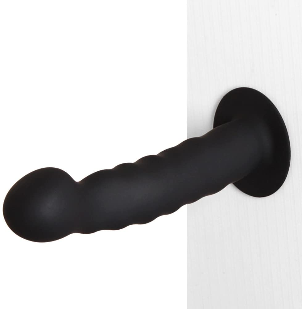 LILER Suction Cup Butt Anal Plug Prostate Massager - Body Safe Silicone - Best for Men, Women or Couples (Black)