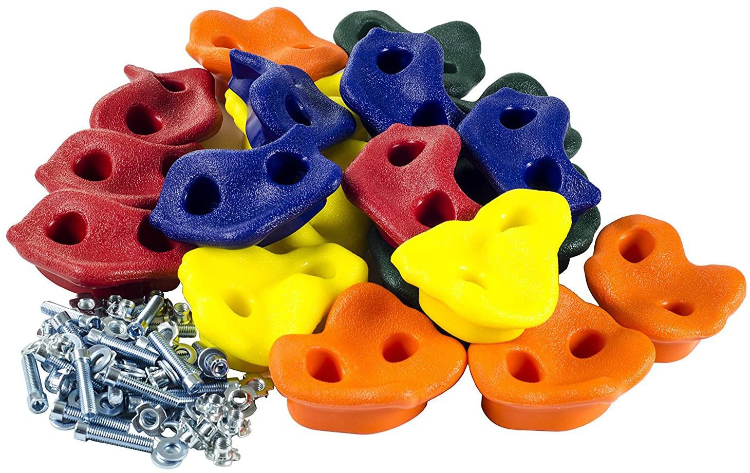 20 Extra Large Deluxe Rock Climbing Holds with Mounting Hardware