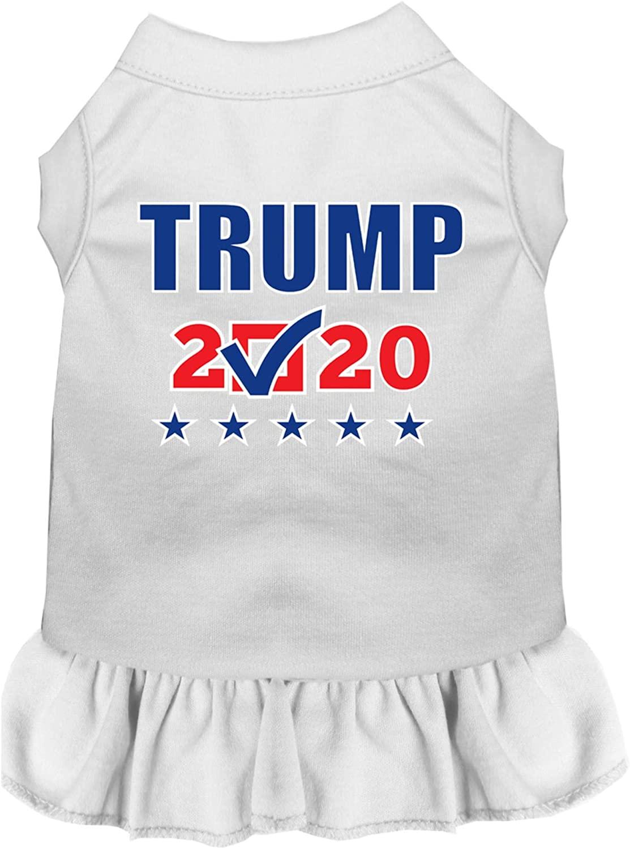 Mirage Pet Product Trump 2020 Checkbox Screen Print Dog Dress White XS