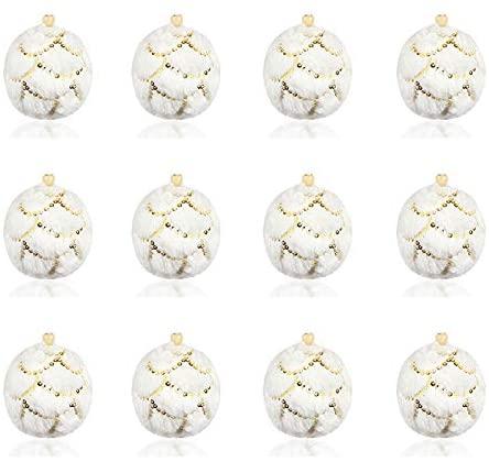 Asdomo 12Pcs Christmas Balls Ornaments, Shatterproof Satin Shiny and Glitter Pendants Bulb Christmas Ornaments Tree Balls for Holiday Wedding Party Decoration, 7cm