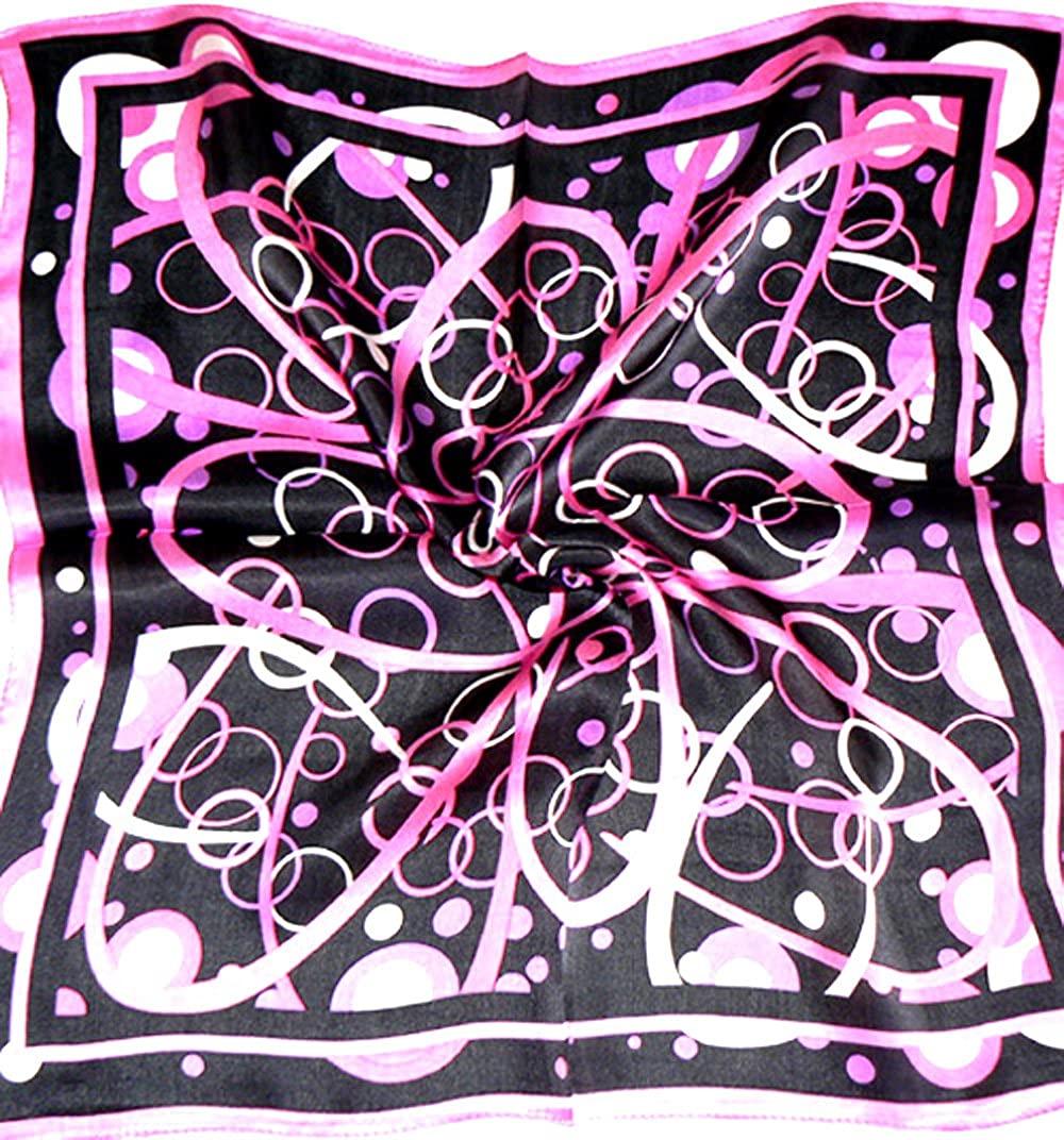Purple Black 100% Charmeuse Silk Scarf Bandana Headband By Silksalon A939