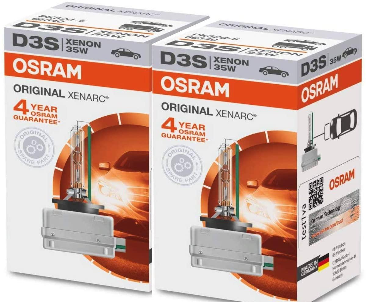Osram 66340HBI Xenarc 35W D3S PK32D-5 4600K HID Xenon Light Bulb (2 Pack)