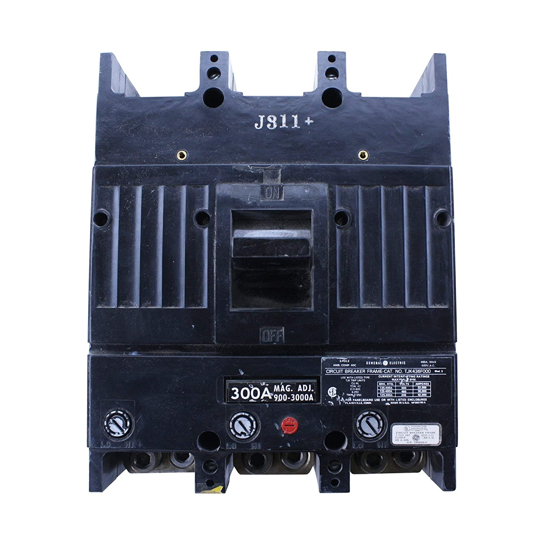 GE TJK436F000 300A Circuit Breaker 600V General Electric TJK436300 300Amp TJK (Renewed)
