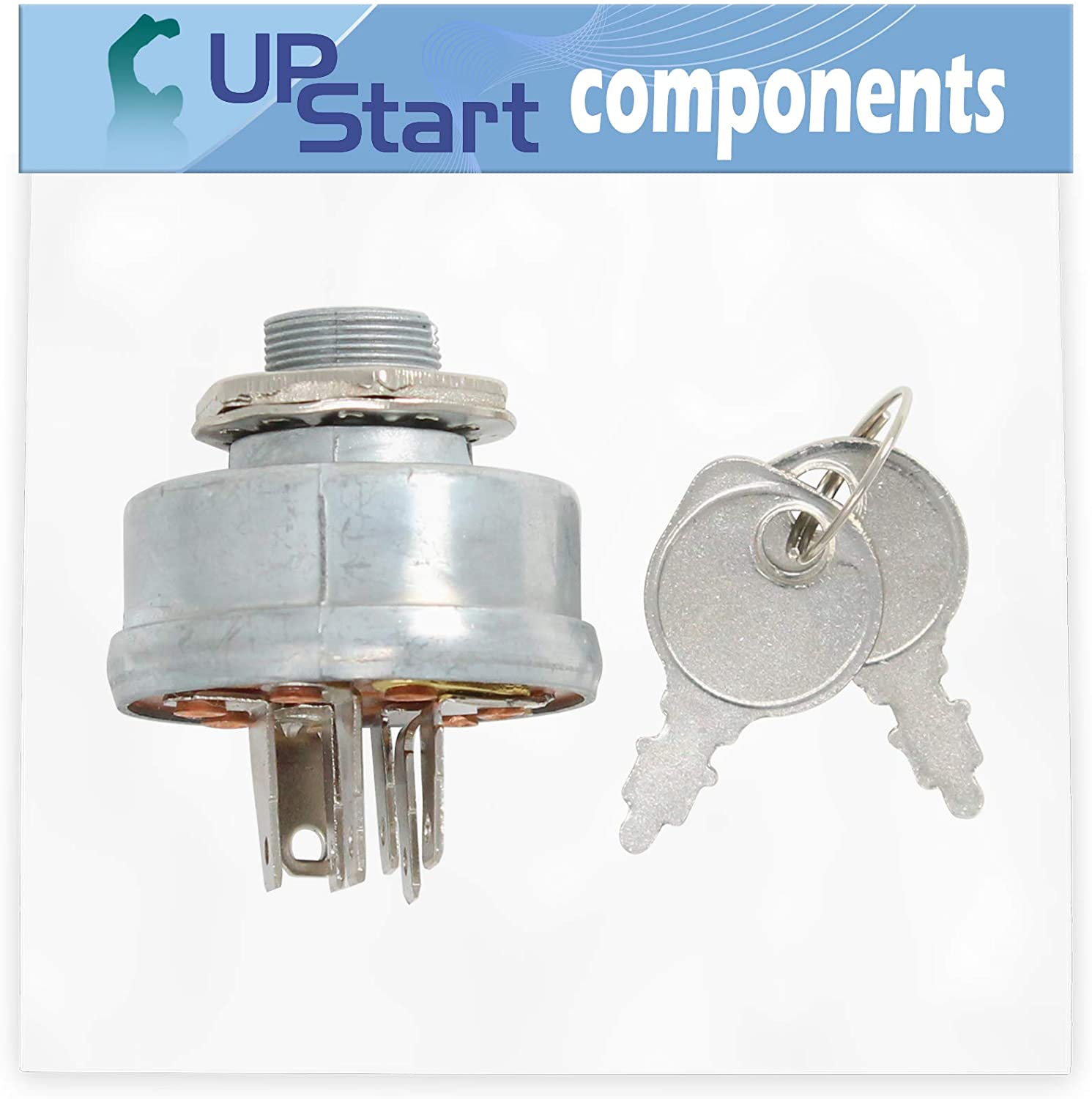 UpStart Components 140301 Ignition Switch Replacement for Simplicity 7800679 Coronet Rd, 17.5Hp Hydro (Ce - Compatible with 532140301 Starter Key Switch