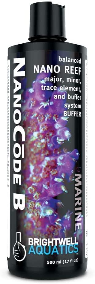 Brightwell Aquatics Nano Code B - Balanced Major, Minor and Trace Element Supplement and Buffer System for Nano Reef Aquariums