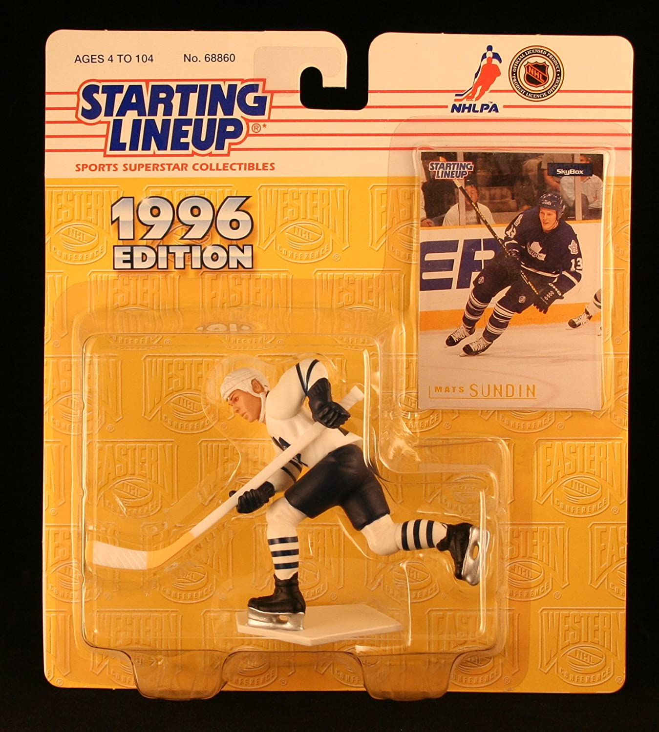 Starting Lineup MATS SUNDIN / Toronto Maple Leafs 1996 NHL Action Figure & Exclusive Collector Skybox Trading Card