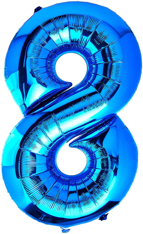 Anagram Number 8 Blue Foil Balloon, 34