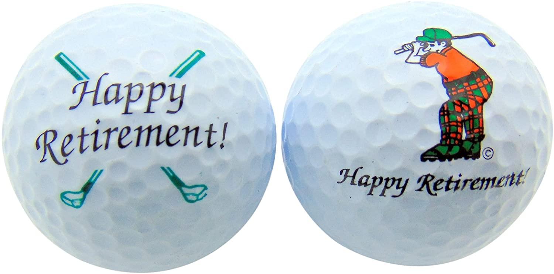 Westmon Works Happy Retirement Set of 2 Golf Ball Golfer Gift Pack