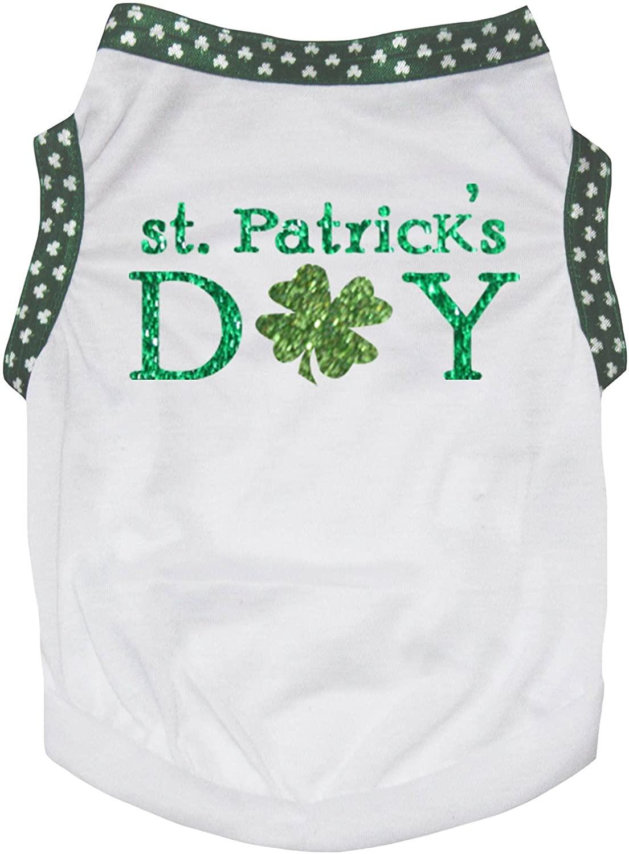 Petitebella St Patricks Day Clover Puppy Dog Shirt