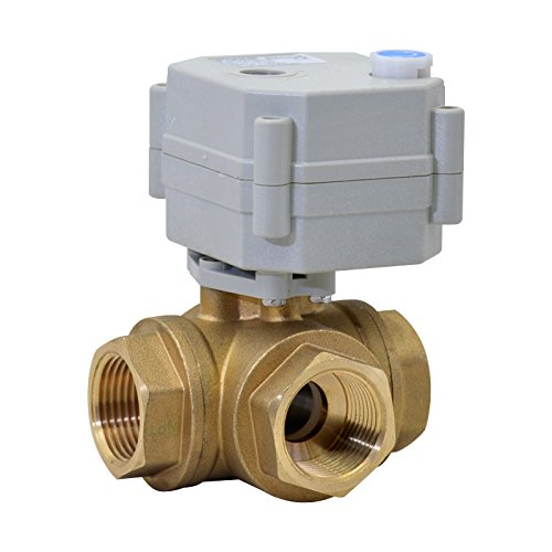 HSH-Flo Brass 3 Way 5VDC 1/4'' DN8 CR2-01 2 Wires On/Off Control Electrical Motorized Ball Valve