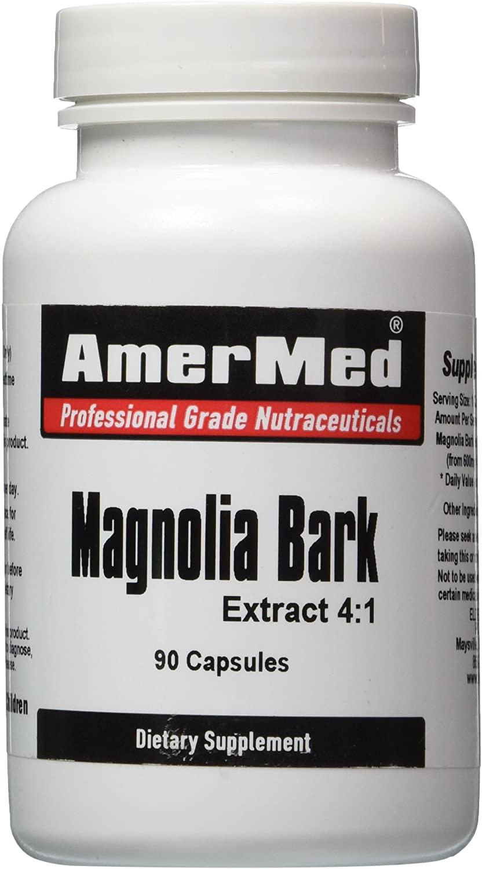 Magnolia Bark Extract 4:1 90 Capsules 2400milligram by AmerMed