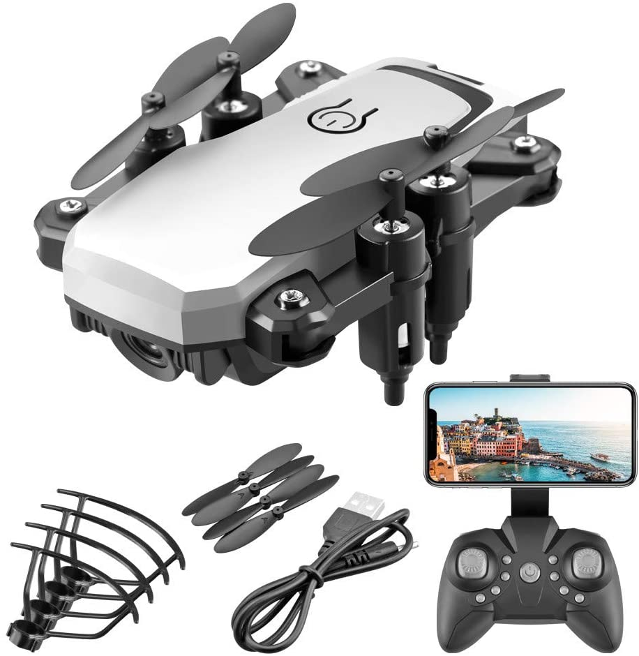 LF606 Drone RC Quadcopter GPS WiFi FPV Drone with Camera Live Video 4K HD Camera Selfi Drone Foldable Arms Altitude Hold Gesture Control RC Quadcopter Drone for Kids Adults