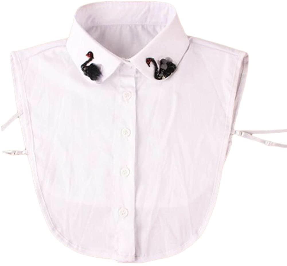 Detachable Collar Fake Collar All-Match Fake Half Shirt for Women-A12 White