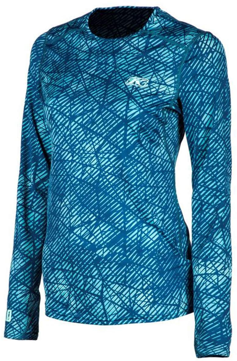 Klim Solstice 1.0 Women's Off-Road Undergarment Base Layer Long-Sleeve Shirts - Blue/X-Large
