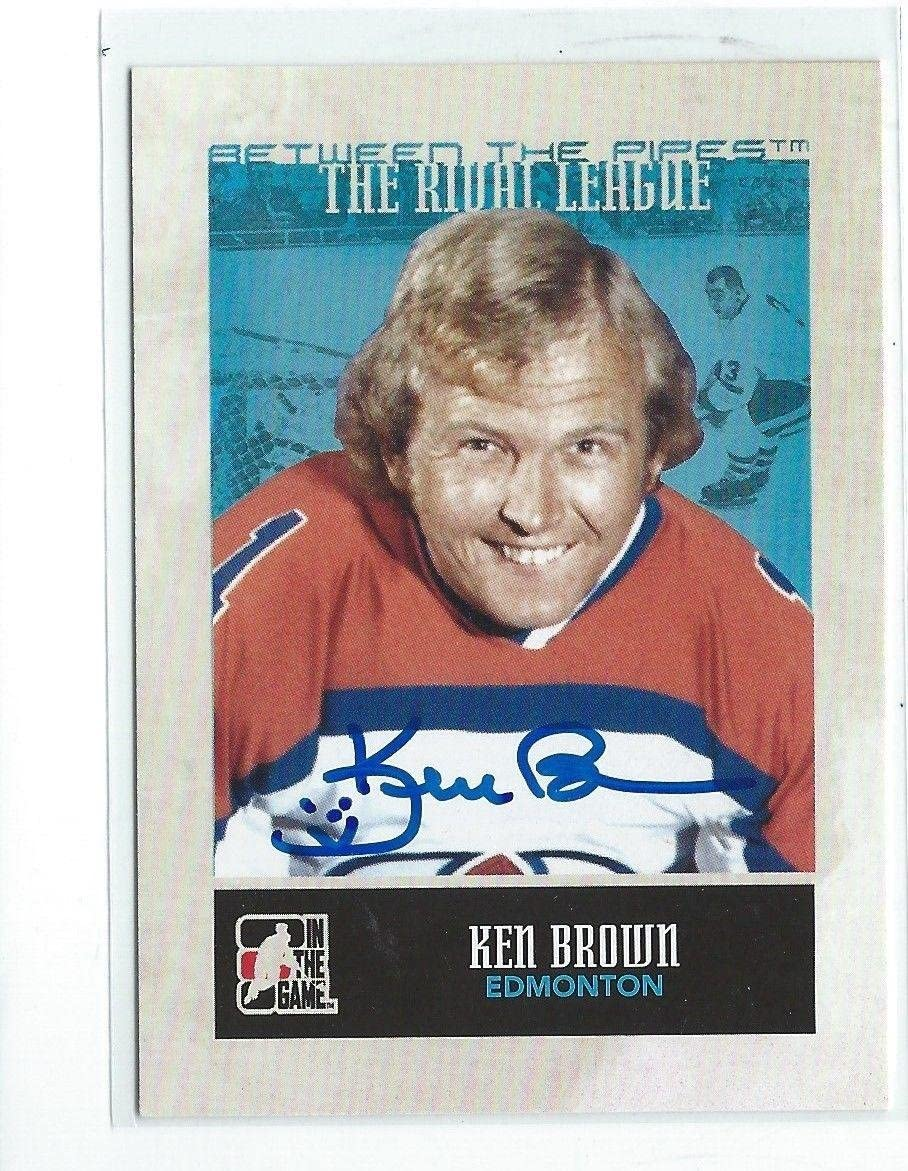 Ken Brown Signed 2009/10 Between the Pipes Card #149 - NFL Autographed Football Cards