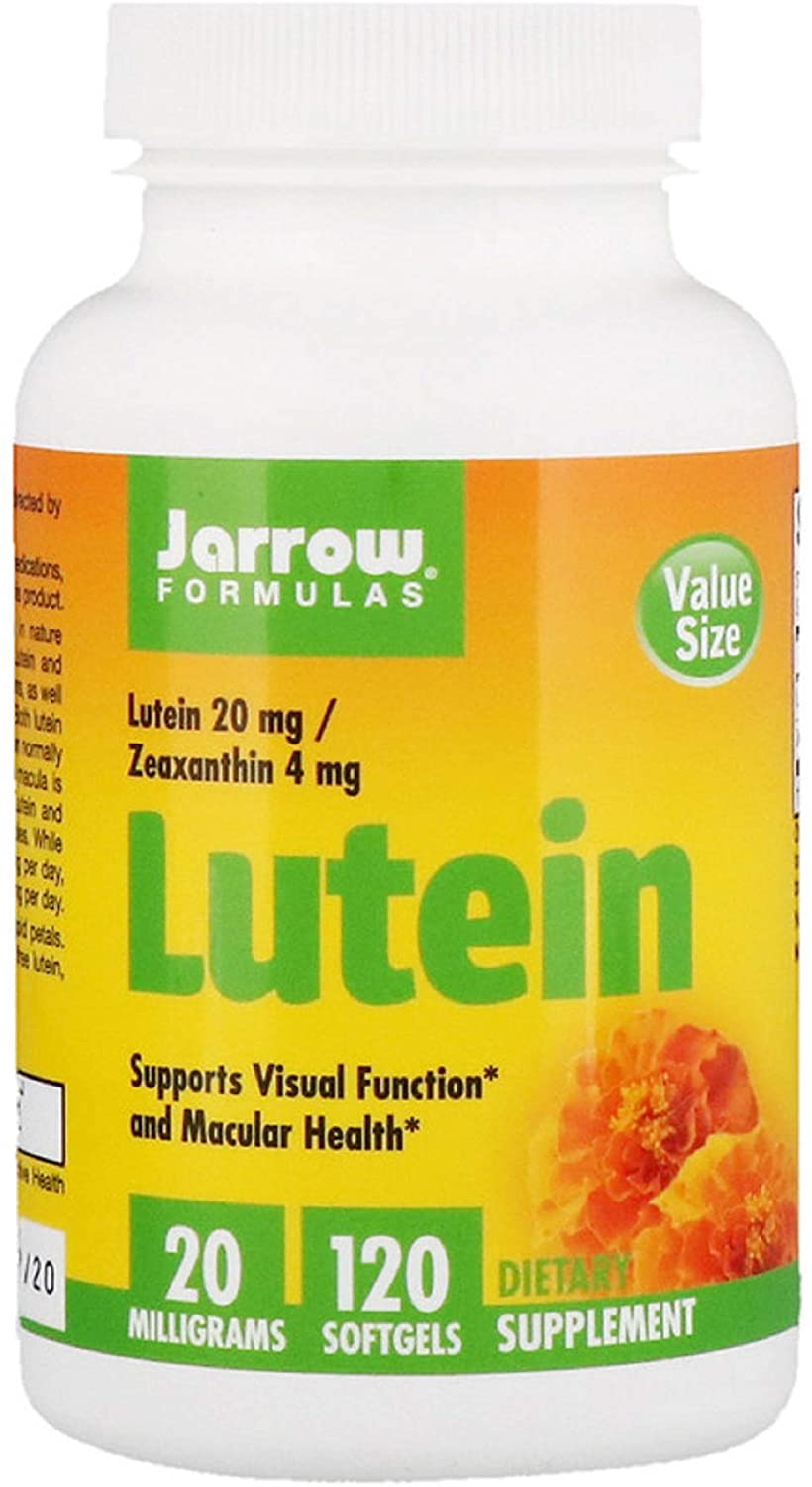 Lutein 20 mg Zeaxanthin 4 mg Supports Visual Function and Macular Health 120 Softgels
