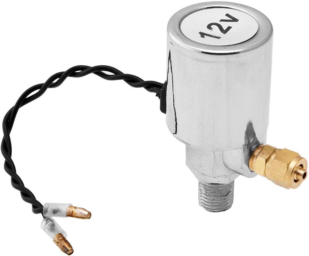 Vixen Horns 1/4 NPT 12V Electric Air Valve (Solenoid) for 1/4 OD Hose 200PSI Train/Air Horn Chrome Plated VXA7164
