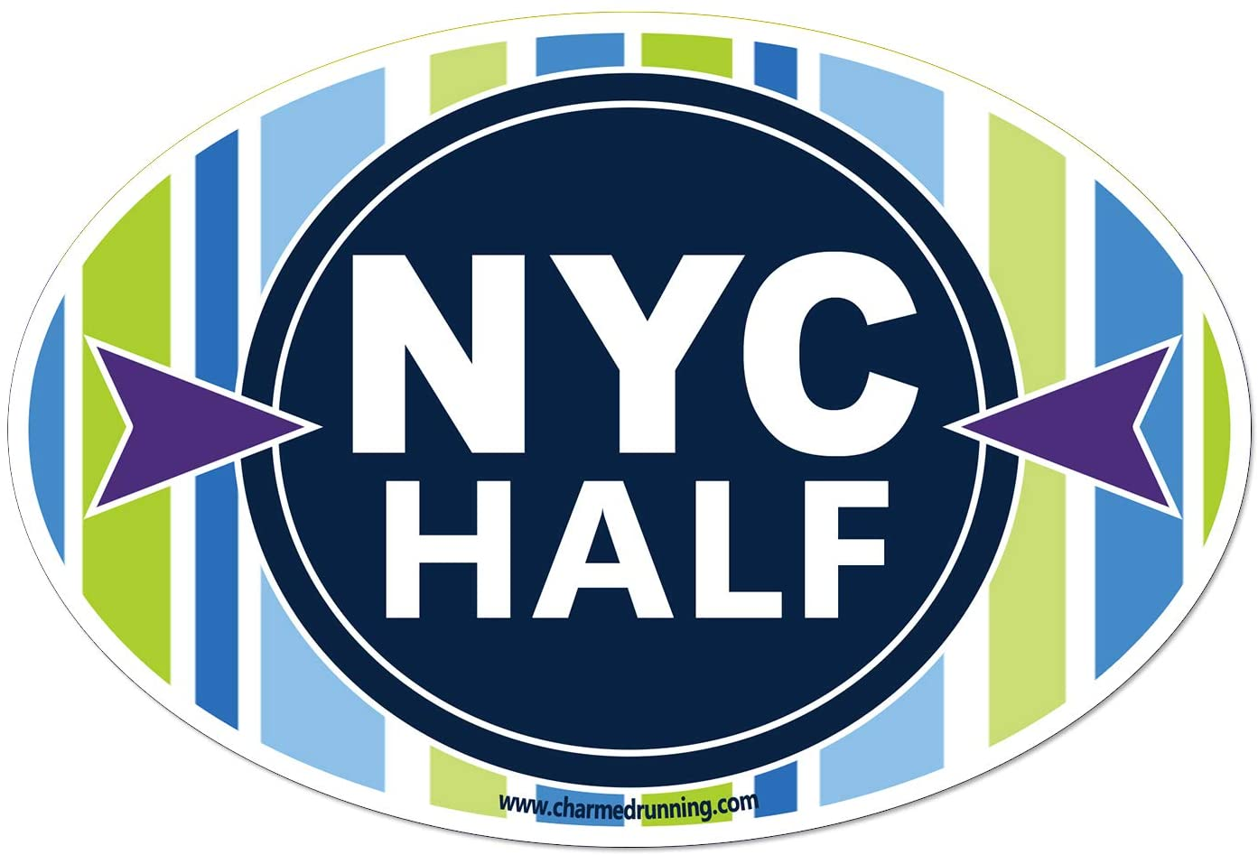 Charmed Running New York City NYC Half Marathon Car Magnet
