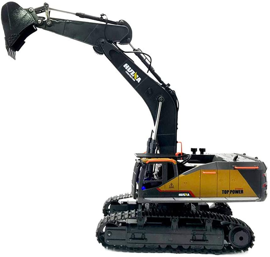 1:14 1592 RC Alloy Excavator 22CH Big RC Trucks Simulation Excavator Remote Control Vehicle Toy for Boys (A)
