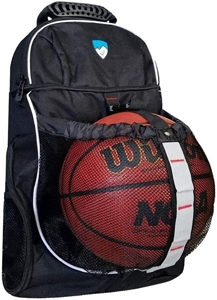 Hard Work Sports Basketball Backpack With Ball Compartment and Shoe Bag