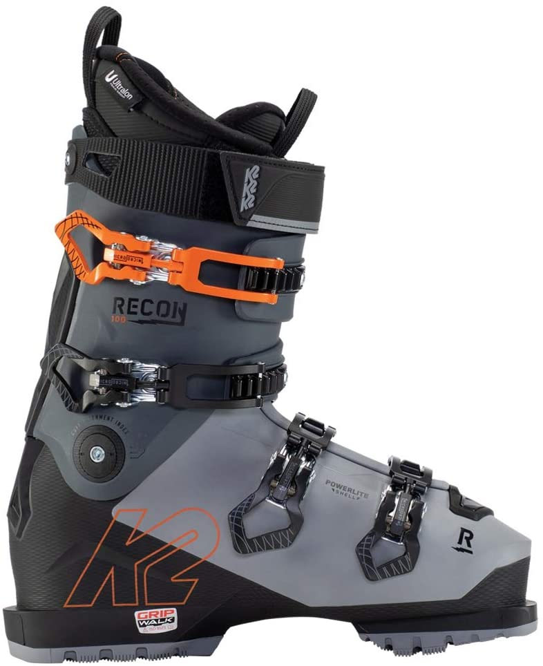 K2 Recon 100 MV Ski Boots 2021-28.5/Grey-Black-Orange