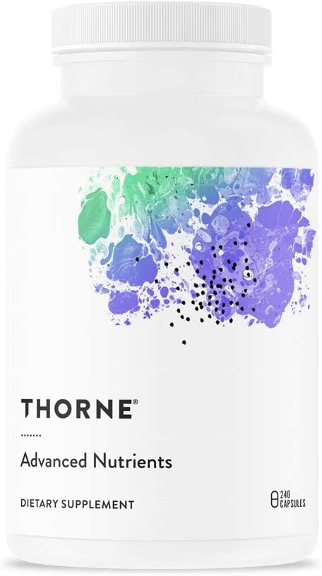 Thorne Research - Advanced Nutrients (Formerly Known as Extra Nutrients) - Multi-Vitamin-Mineral Supplement with Nicotinamide Riboside (Niagen) - 240 Capsules