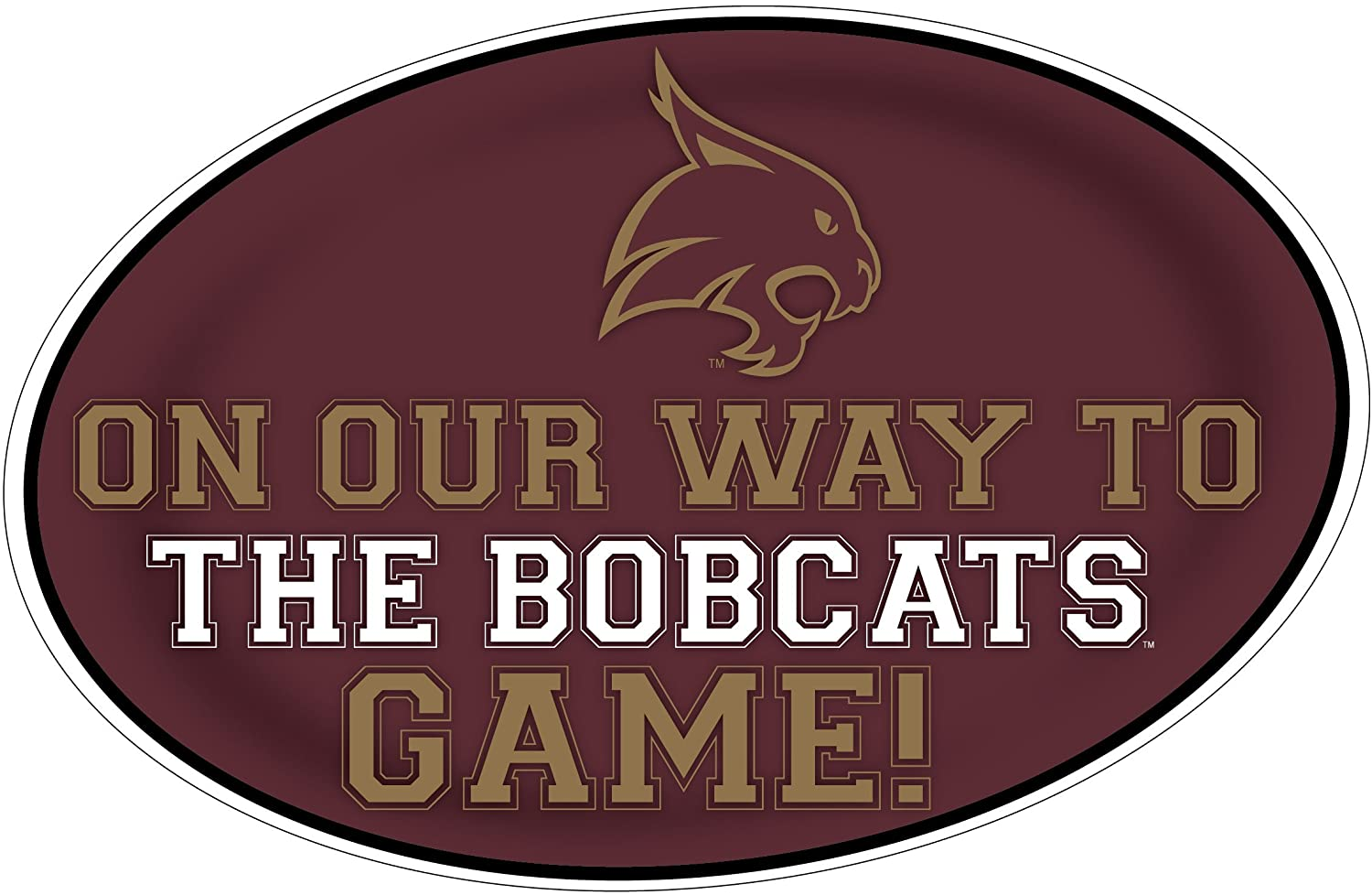 TEXAS STATE BOBCATS HEADING TO THE GAME-TEXAS STATE UNIVERSITY 11X17 INCH JUMBO CAR MAGNET