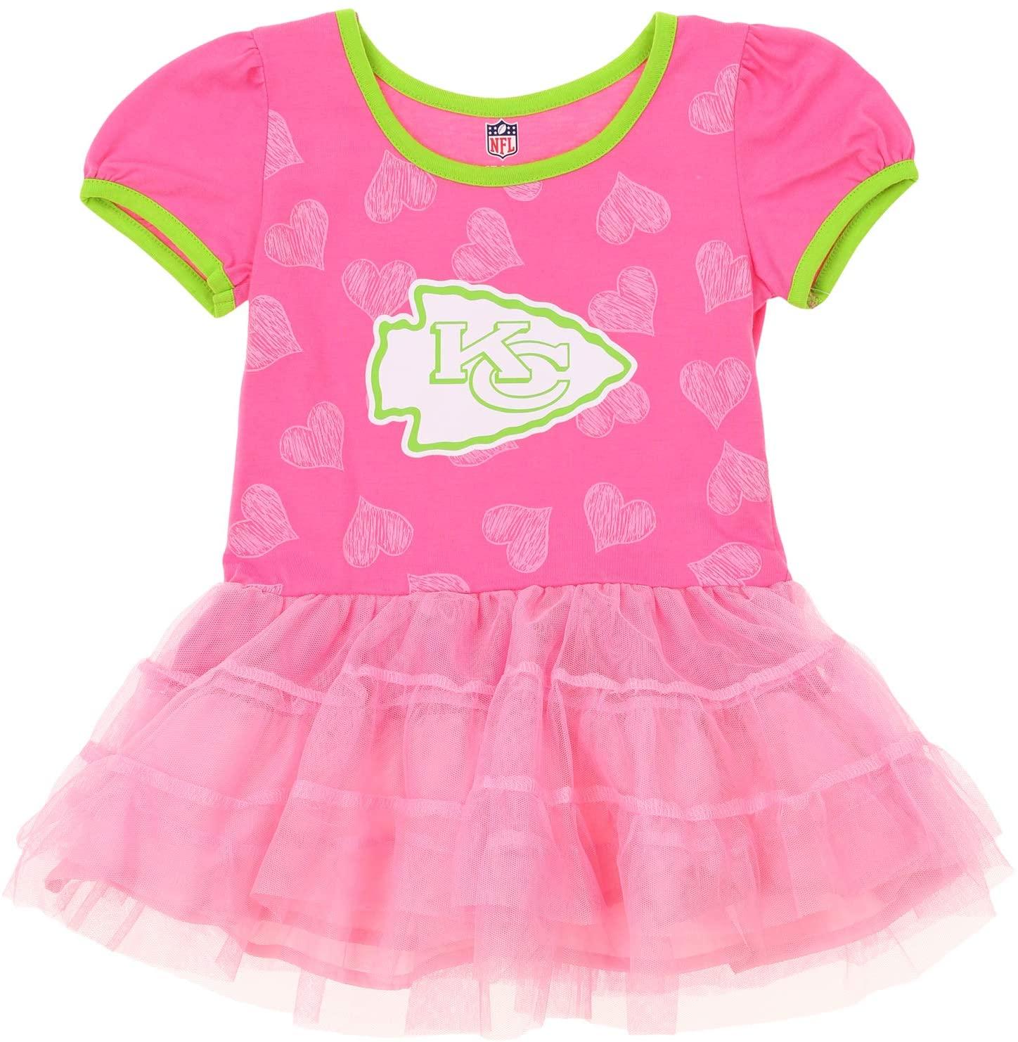Outerstuff NFL Toddler Girl's Kansas City Chiefs Love to Dance Tutu Dress