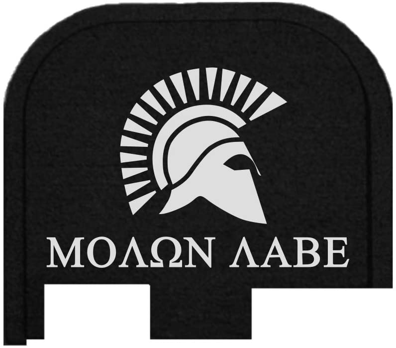 BASTION Laser Engraved Butt Plate, Rear Slide Cover Back Plate for Glock G43, G43X, and G48 9mm ONLY - Molon Labe