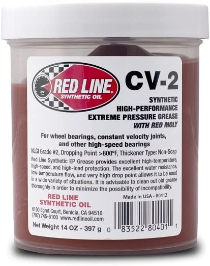 Red Line 80401 CV-2 Grease, 14 Ounce Jar, 1 Pack