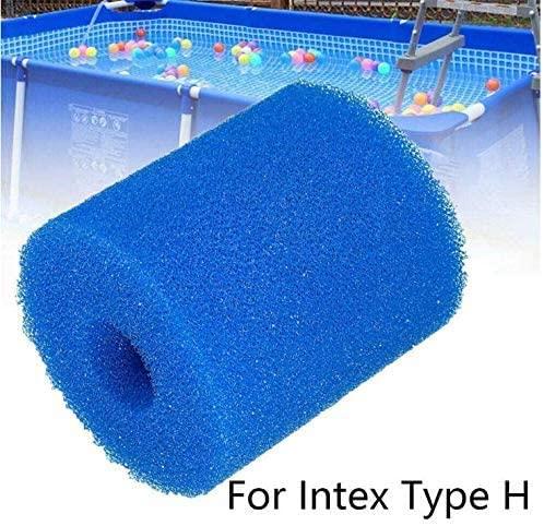 LZKUVFH Swimming Pool Filter Foam Cartridge for Type H, Reusable Washable Filter Sponge Cleaner, Easy Set Pool Filter Cartridges for Above Ground Pools (5 PCS)